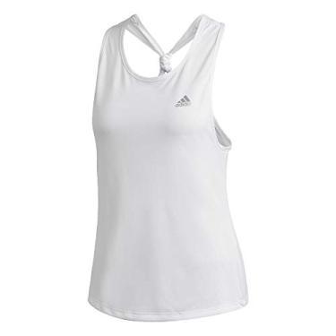 Regata feminina Adidas Club Tie-Back, White/Matte Silver, Large