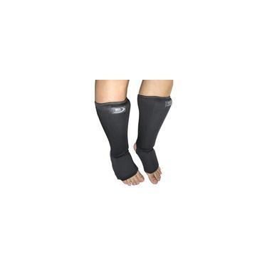 Imagem de Caneleira protetor de canela Combate Muay artes marciais c/ protetor de pé tkd mma