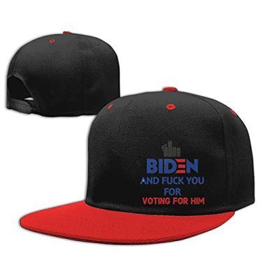 Imagem de Boné de beisebol masculino e feminino Fuck Biden and Fuck You for Voting for Him 1 vermelho, Vermelho, tamanho �nico