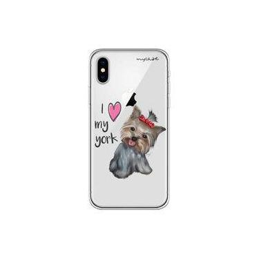 "Capa para iPhone X - Mycase   I love my York "" nome do seu animal """