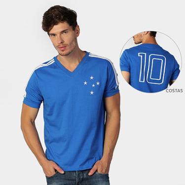 Camisas de Times de Futebol Casuais Cruzeiro Masculino  16cf0535fc276