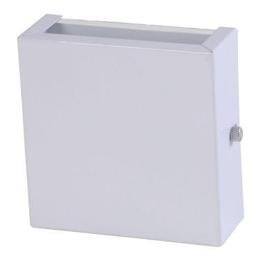 Arandela 2 Fachos Slim Luminária Externa Interna Parede Alumínio Branco - Rei da Iluminação