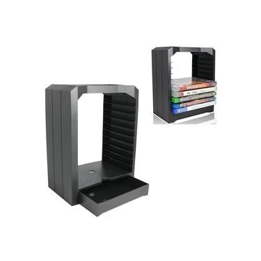 Jogo universal e kit de suporte de prateleira da torre de armazenamento de discos Blu Ray para Xbox One PS4