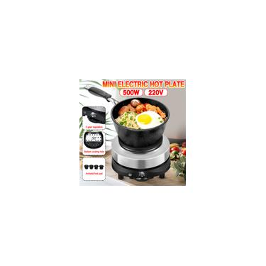 Imagem de 500 W Mini Aquecedor Elétrico Fogão Fogão Fogão Quente Leite Água Café Aquecimento Q