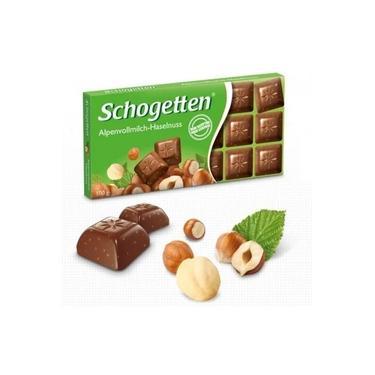 Schogetten Alpine Milk Chocolate Hazelnuts 100g