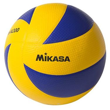 Mikasa MVA200 2008 (Beijing), 2012 (Londres) e 2016 (Rio) Bola dos Jogos Olímpicos Internos (Azul/Amarelo)