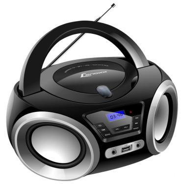 Rádio Portátil Boombox Lenoxx 5W Bluetooth Rádio Fm E Cd Player Bd1370 - Bivolt