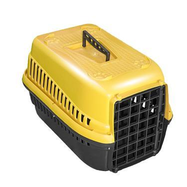 Caixa De Transporte N.2 Cão Cachorro Gato Pequena Amarela