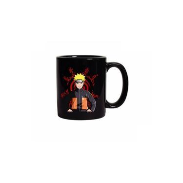 Caneca Preta Naruto Uzumaki Naruto Shippuden