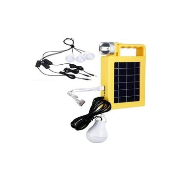 Painel Solar Com Kit De Emergencia Lanterna Placa Kit Com 3 Lampadas E Carregador Power Bank Luminaria Sistema De Energia Usb