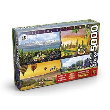 Imagem de Quebra-cabeças Grow 5000 peças: Vinhos do Mundo (exclusivo Amazon), Multicor
