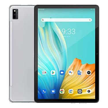 "Imagem de Tab 10 Android 11 Tablet 10,1""MTK8768 Octa Core 1920x1200 4GB RAM 64GB ROM Rojo 4G 7480mAh tabletas PC WiFi Dual (prata)"