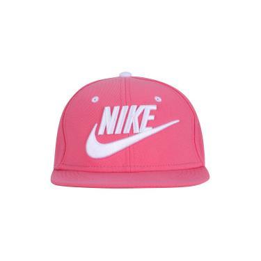Boné Aba Reta Nike Futura True - Snapback - Infantil - ROSA BRANCO Nike 0ebb10987bc