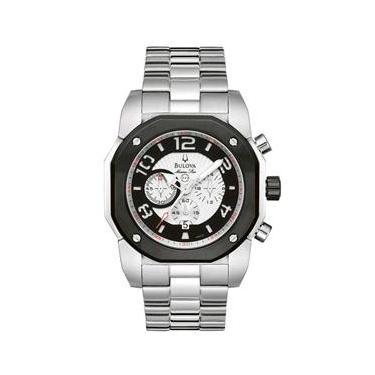 a8229017212 Relógio Masculino Analógico Bulova Cronógrafo Marine Star - Prata