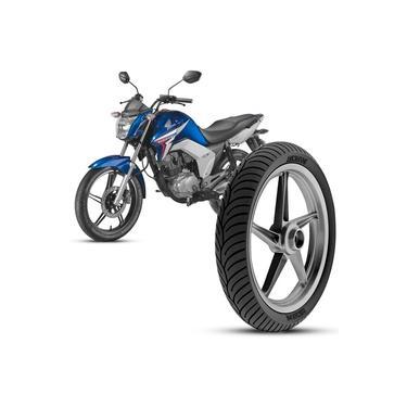 Pneu Moto Honda Cg Titan Rinaldi Aro 18 80/100-18 47p Dianteiro HB37