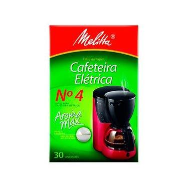 Filtro Para Café N4 Para Cafeteira Caixa Com 30 Unidades Mellita