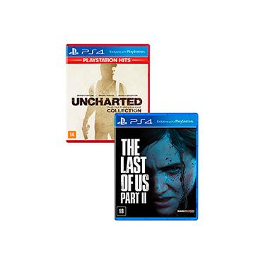Game The Last Of Us Part II + Game Uncharted The Nathan Drake Collection Hits - PS4