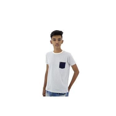 Camiseta Infantil Menino Bege-2A683