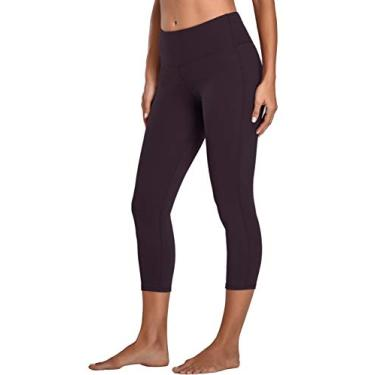 Oalka Calça legging feminina para ioga, corrida, Vintage Violet Purple, Large
