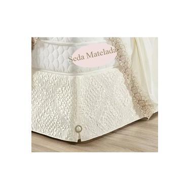 Imagem de Saia Cama Box Queen Size Seda Matelada Baú Oferta Qualidade