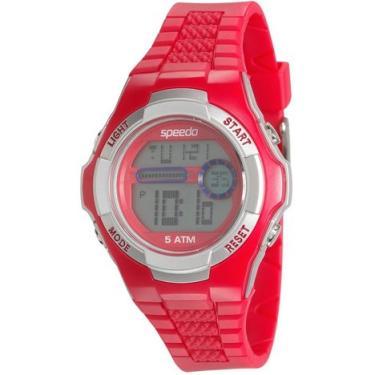 9d294e40683 Relógio Speedo Unissex Pulseira de Plástico Diversas Cores - Vermelho-Prata