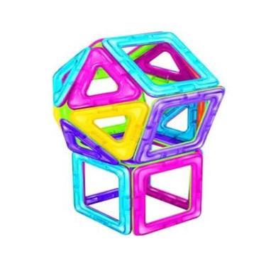 Imagem de Blocos de Montar 30 Peças - Dican - Brinquedo Magnético