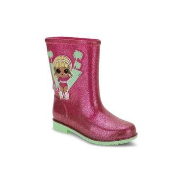 Bota Galocha Infantil Feminina Lol Gloss Galocha 22212 Pink