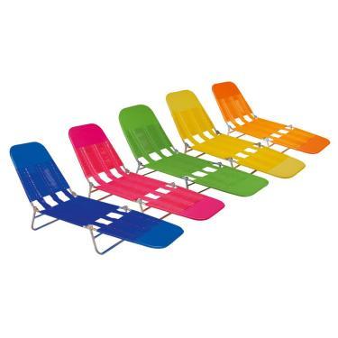 Cadeira Espreguiçadeira Mor Vinil Fashion, Cor Sortida - 2411