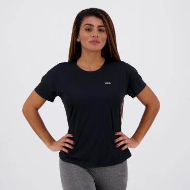 Camiseta Fila Basic Sports Feminina Preta - EG
