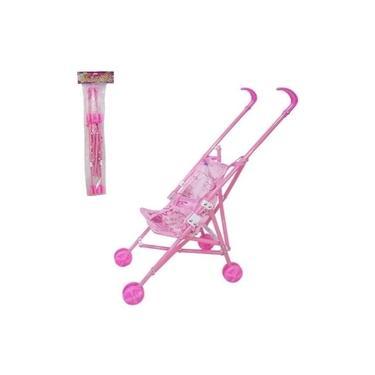 Imagem de Carrinho Boneca Bebê Brinquedo Infantil Berço