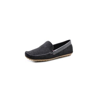 Mocassim Sapatilha Sapato Masculino Em Camurca Leve Preto
