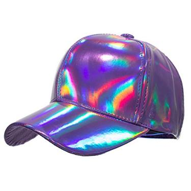 SOIMISS Boné de beisebol de cor sólida da moda Chapéu protetor solar para esportes ao ar livre cocar de viagem (roxo)