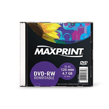 Mídia Dvd-Rw Regravável Maxprint 4.7 Gb - 120 Min - 4X - Pino C/10 Unidades