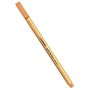 Caneta Hidrográfica, Stabilo, Point 88, 46.9501, 0.4 mm, Laranja Neon