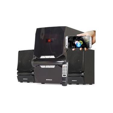 Imagem de Home Theater Subwoofer 2.1 Bluetooth Caixa Som Tv Pc Potente