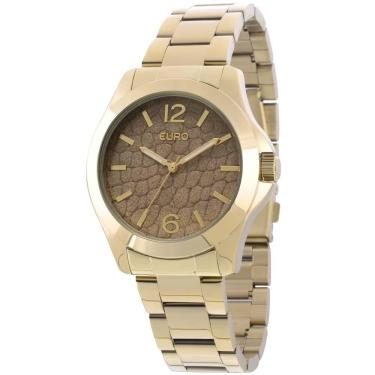 bca9a46052e Relógio Feminino Euro Analógico - EU2036LXZ 4X - Dourado
