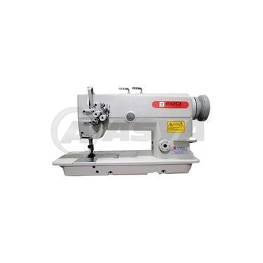 Máquina de Costura Pespontadeira Industrial, 2 Agulhas, Transp. Duplo, Ponto Fixo, 3000ppm, EX872-5