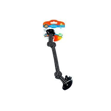 Brinquedo Mordedor Para Cães Rope Nó Preto - Chalesco