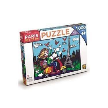 Imagem de Quebra-cabeça Puzzle 1000 Romero Britto Paris - Grow