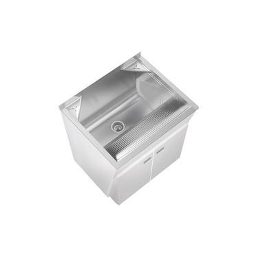 Tanque de Lavar Roupa Mini Com Balcão 32 Litros Inox GhelPlus