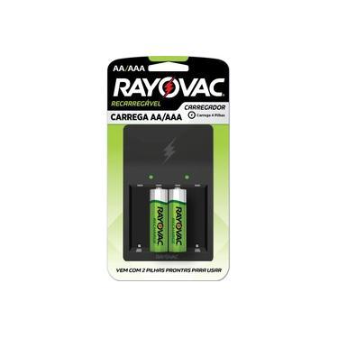 Recarregador AA/AAA com 2 Pilhas AA Rayovac PS132-2B