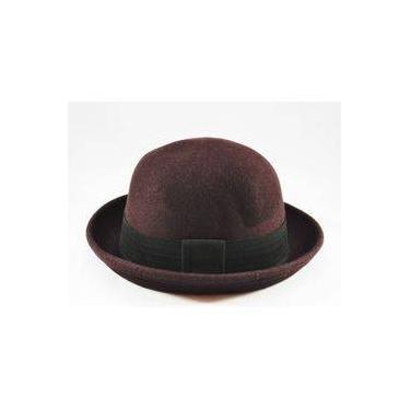 1daf19f609063 Chapéu Coco Chaplin Marrom - Personalizado