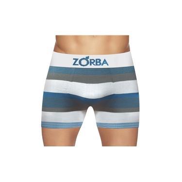 Cueca Boxer Zorba Seamless Listras New S/ Cost Alg Branca