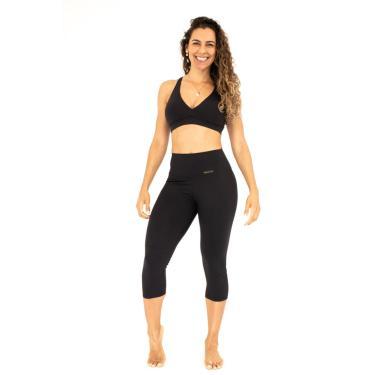 Calça Corsário Fitness Preta Classic P