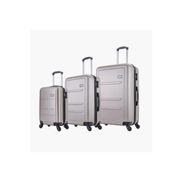 Imagem de Conjunto de malas de viagem P, M e G Montreal Swiss Move Champagne