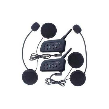 Intercomunicador Bluetooth Moto V6 Plus Capacete Kit 2x par Gps mp3 Wlxy Favix