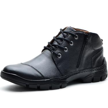 9ca84826c4c Bota Cano Curto Casual Over Boots Detroit Couro Conforto Preto masculino