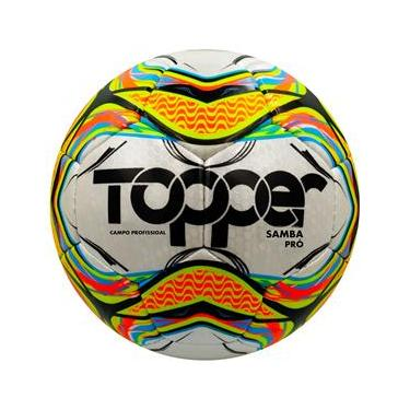 Bola de Futebol de Campo Topper Samba Pró Campo Profissional – Colorida