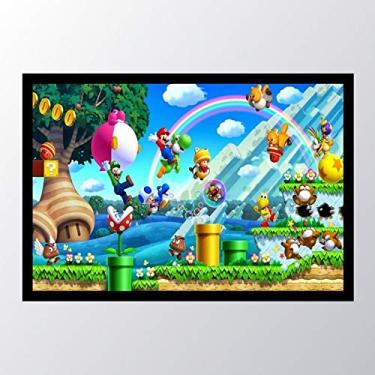 Quadro com moldura New Super Mario Bros. U