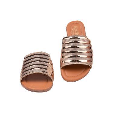 Imagem de Sandália Rasteirinha Infantil Slide Bronze Conforto Latikas Mini  feminino